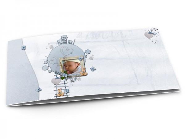 Faire-part naissance - La planète bleue