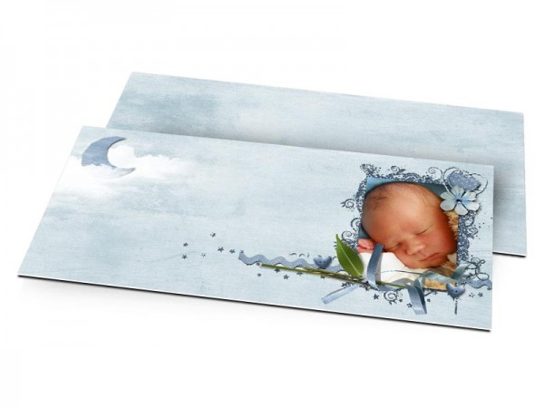 Faire-part naissance - Ciel nuageux