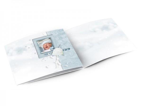 Faire-part naissance - Bonnet blanc