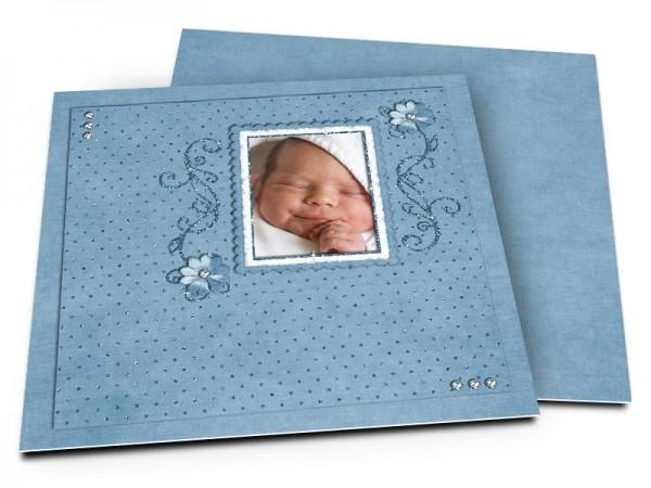 Faire-part naissance - Diamants sertis