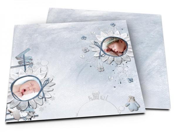 Faire-part naissance - Duo de fleurs