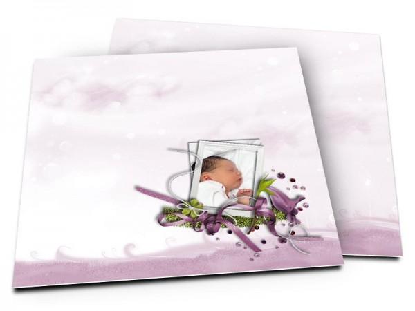 Faire-part naissance - Les papillons blancs