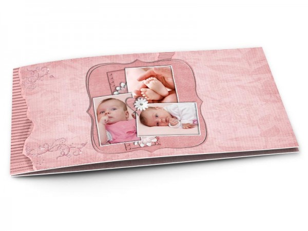 Faire-part naissance - Triptyque coeur