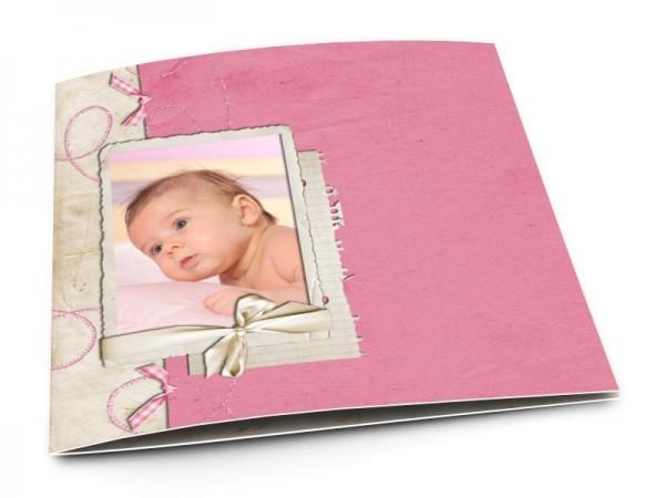 Faire-part naissance - Le fil rose