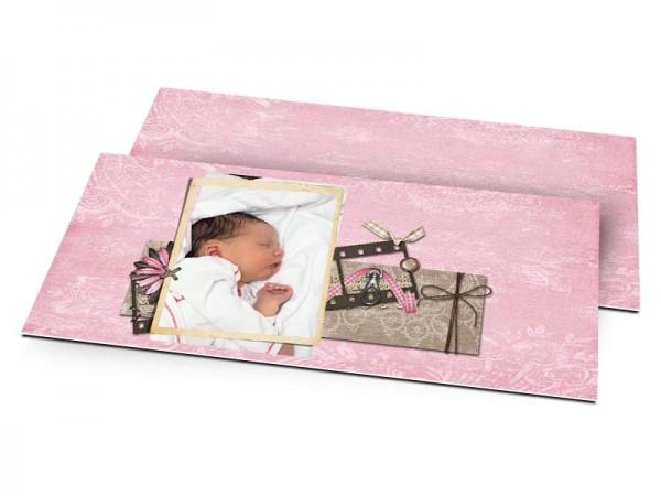 Faire-part naissance - Carnet rose