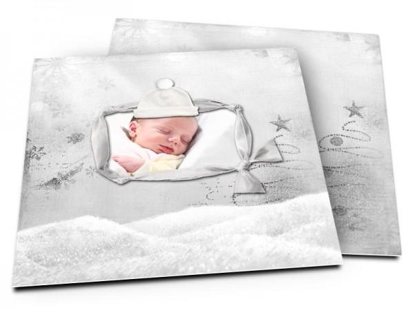 Faire-part naissance - La magie de l'hiver