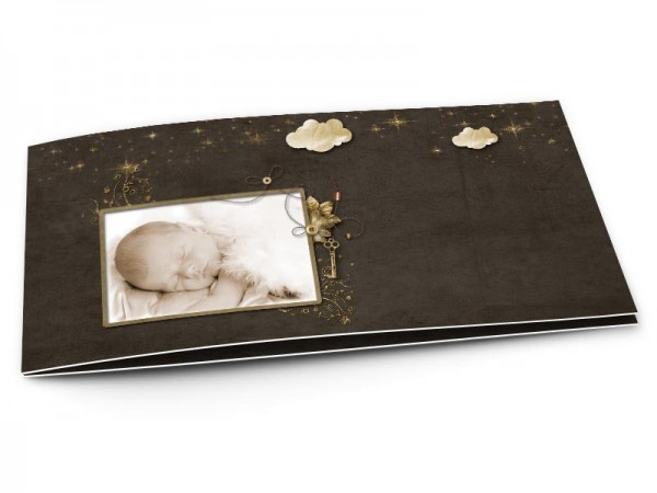 Faire-part naissance - Nuages d'or