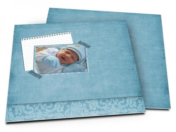Faire-part naissance - Une vie en bleu