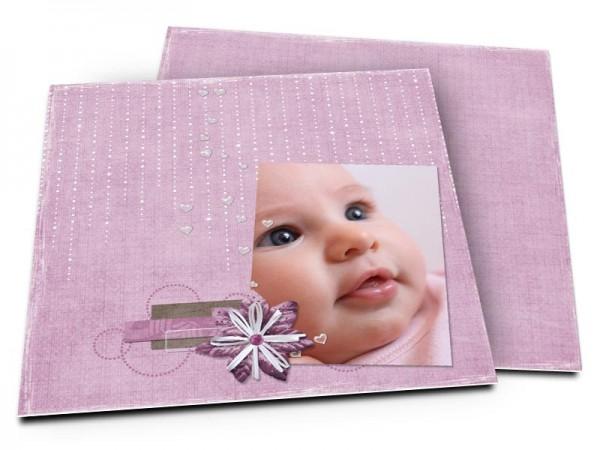 Faire-part naissance - Un rideau de perles
