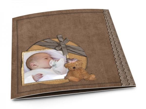 Faire-part naissance - L'ours brun