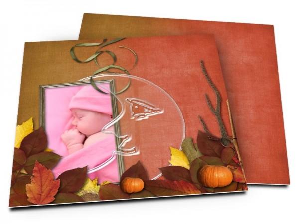 Faire-part naissance - Lune d'automne