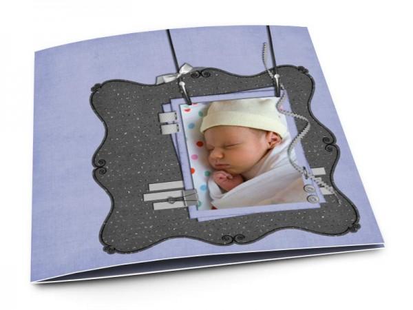 Faire-part naissance - Cadre suspendu