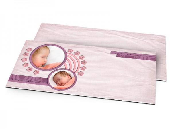 Faire-part naissance - Parme, effet papier plié