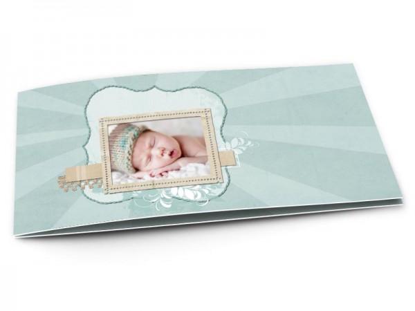 Faire-part naissance - Dentelle et couleurs douces