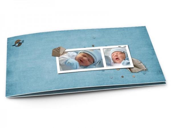 Faire-part naissance - Bleu - sobre et moderne