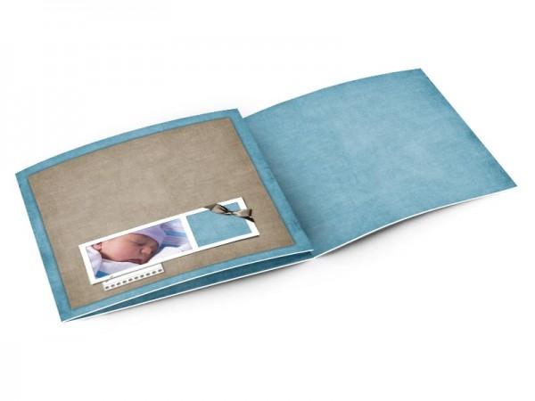 Faire-part naissance - Marron et bleu