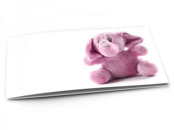 Faire-part naissance - L'éléphant rose