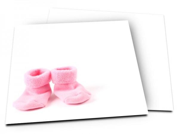 Faire-part naissance - Chaussettes roses