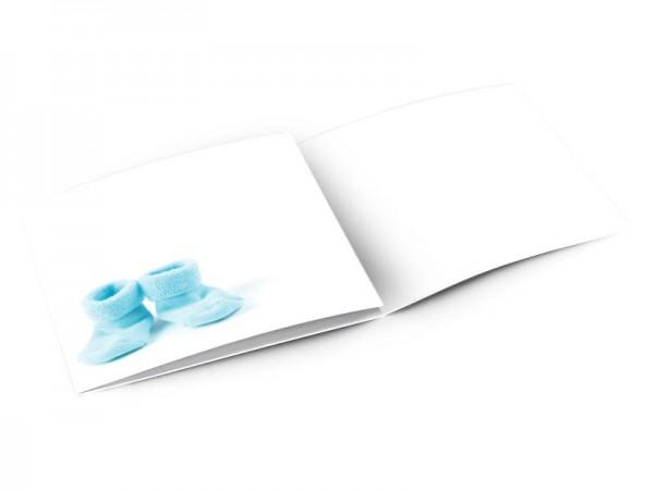 Faire-part naissance - Chaussettes bleues