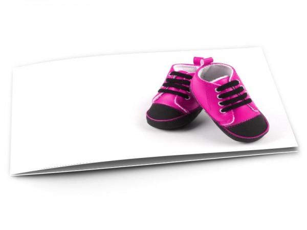 Faire-part naissance - Chaussures rose