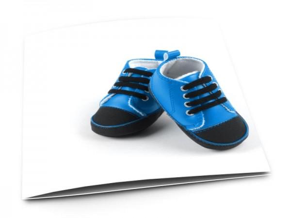 Faire-part naissance - Chaussures bleues