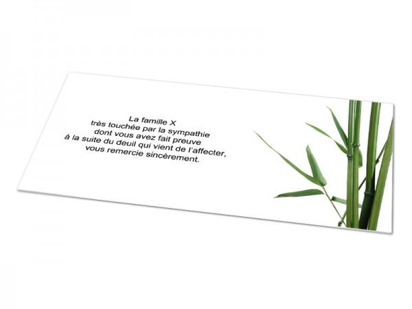 Cartes décès fleurs - Bambou