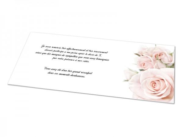 Cartes décès fleurs - Bouquet de roses