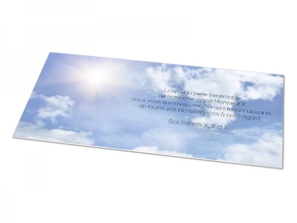 Cartes décès paysages - Ciel ensoleillé