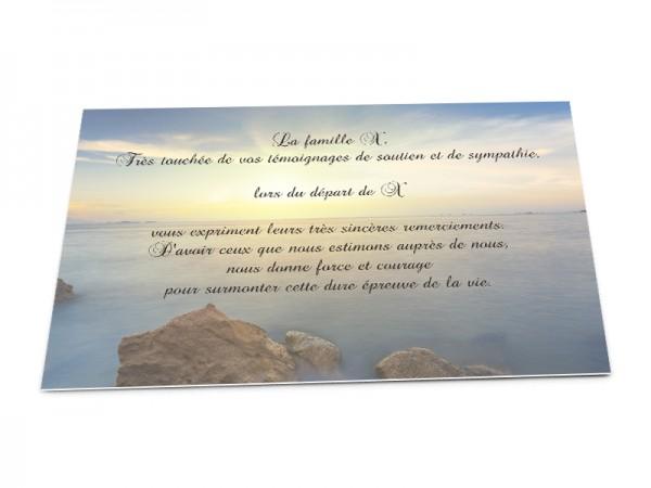 Cartes décès paysages - Lever du soleil mer