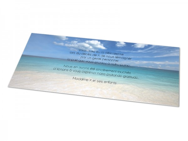 Cartes décès paysages - Entre ciel et mer