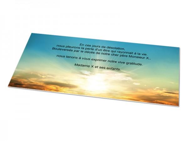 Cartes décès paysages - Beau coucher de soleil