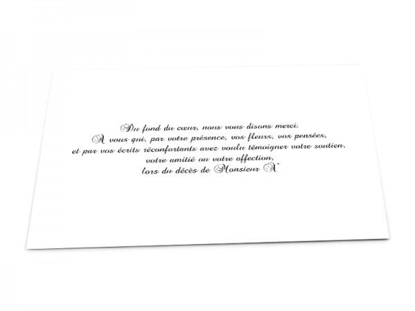 Cartes décès classiques - Texte seul sur fond uni