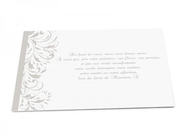 Cartes décès classiques - Décor floral abstrait