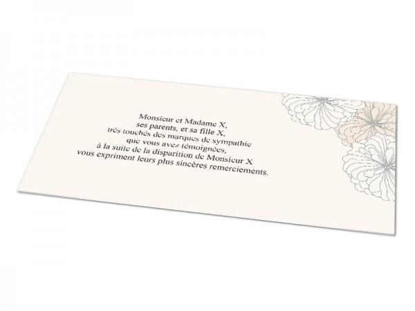 Cartes décès classiques - Motif pivoines