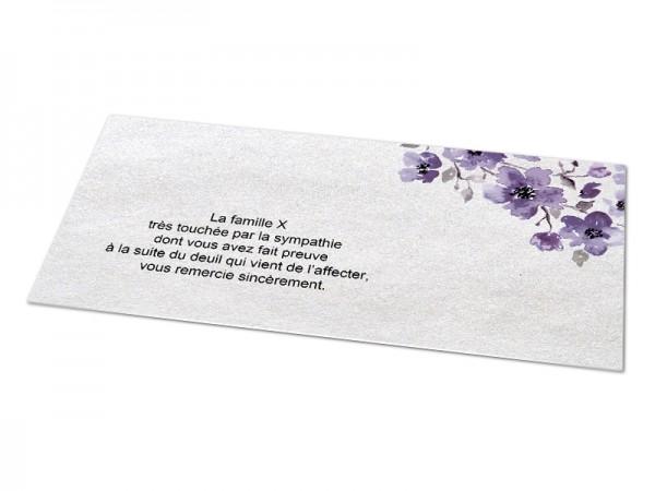 Cartes décès classiques - Fleur violette aquarelle