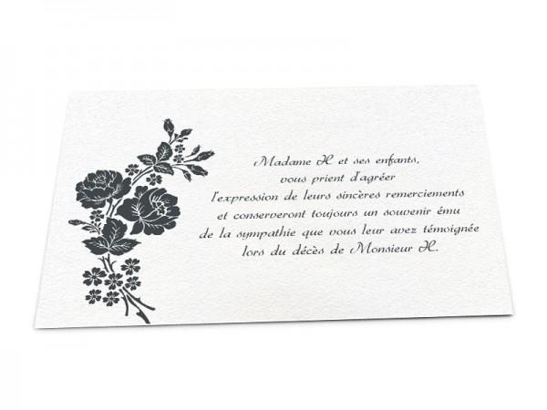 Cartes décès classiques - Composition de roses