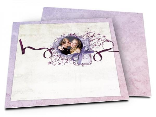 Remerciements mariage - Un ruban violet