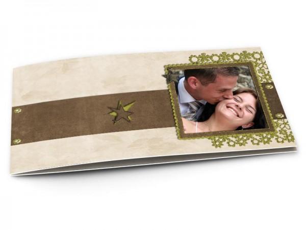 Remerciements mariage - Dentelle et étoile