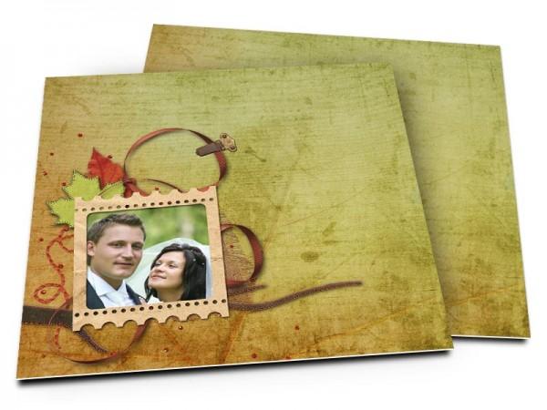 Remerciements mariage - Poésie d'automne