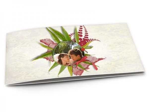 Remerciements mariage - Un nid de feuilles