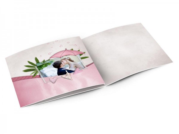 Remerciements mariage - Feuillage et parasol