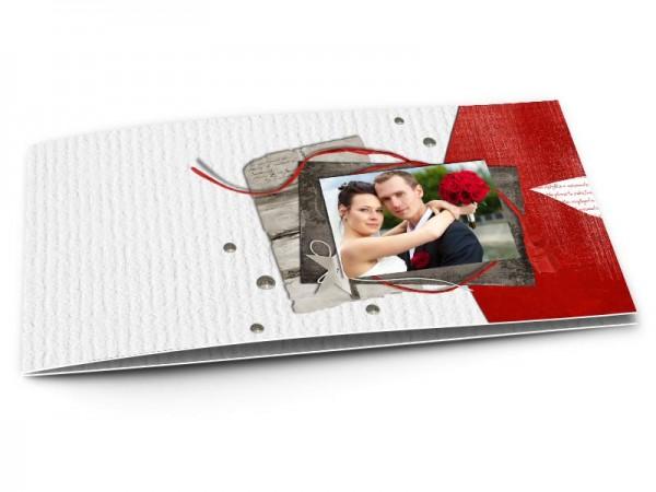 Remerciements mariage - Étoile gris et rouge