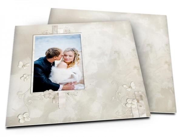 Remerciements mariage - Gris et taupe
