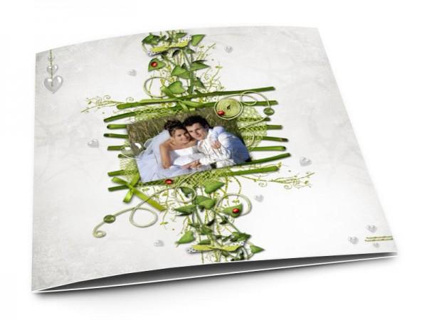 Remerciements mariage - Bambous et coccinelles