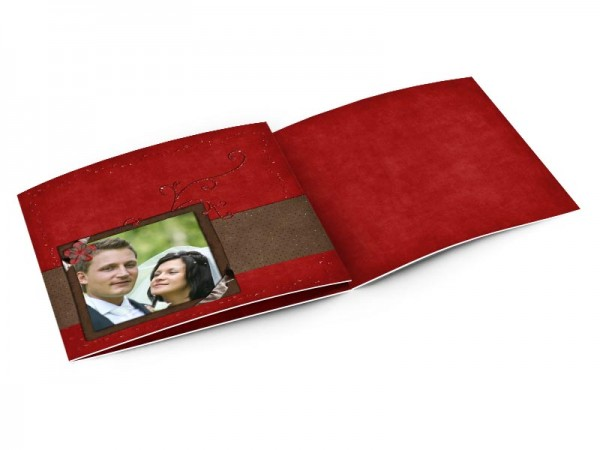 Remerciements mariage - Paillettes rouges