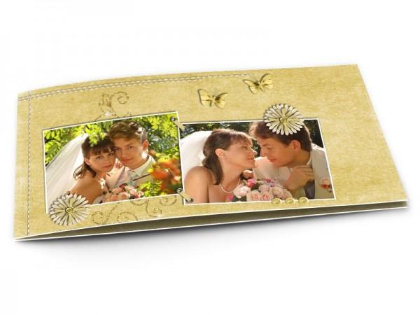 Remerciements mariage - Papillons dorés