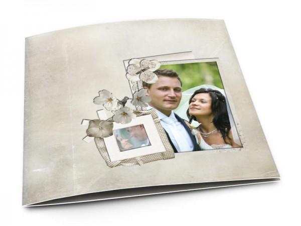 Remerciements mariage - Deux cadres sur fond gris
