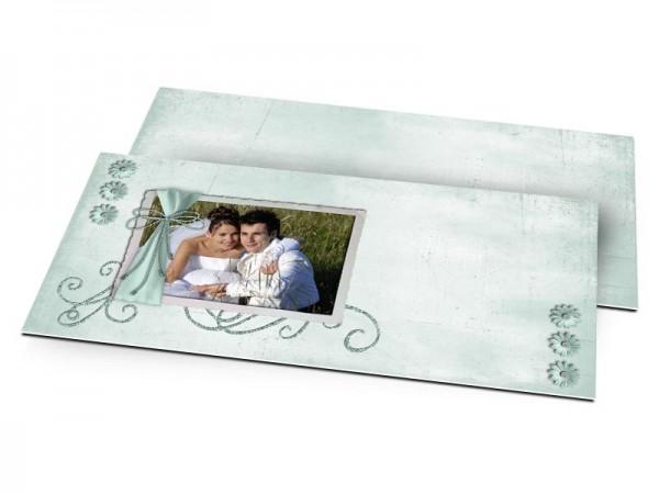 Remerciements mariage - Arabesque turquoise