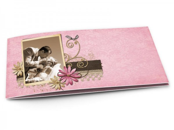 Remerciements mariage - Fleurs et dentelle