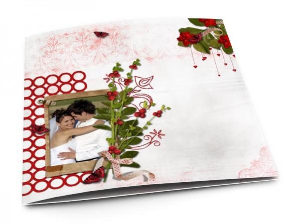 Remerciements mariage - Des fruits rouge
